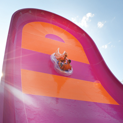 Reverse Freefall Rainbow Slide